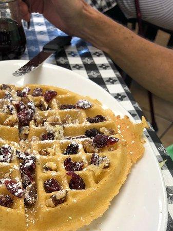 Zephyrhills, FL: Pecan and cranberry waffle