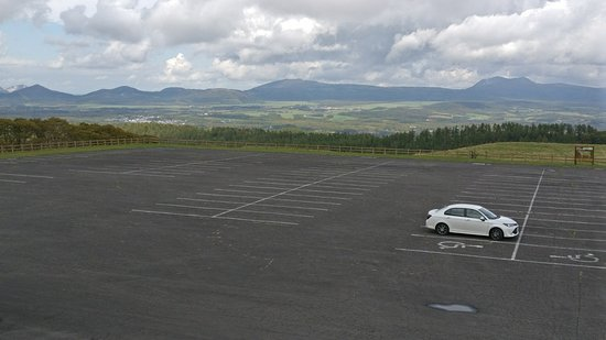 Kyumarumaru Sogen: The empty car park.... we were the only ones there.