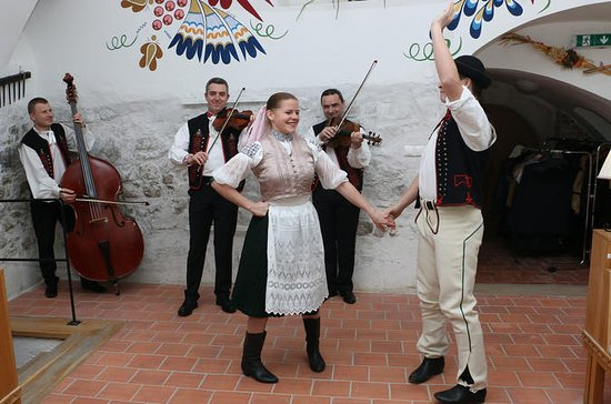 Folklore show and traditional slovak...