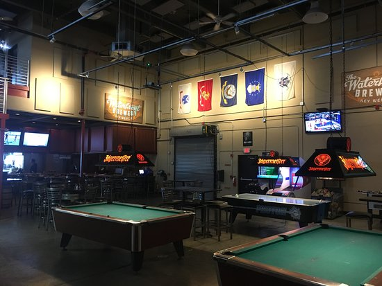 Pool Tables And Video Games Picture Of Waterfront Brewery Key - Pool table key