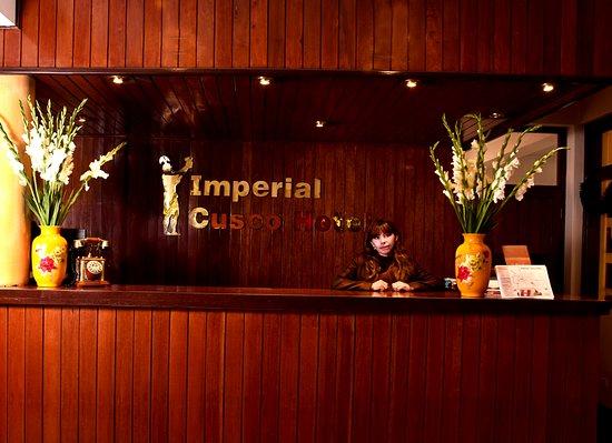 Imperial Cusco Hotel: NUESTRA AREA DE RECEPCION, DONDE LE DAREMOS LA BIENVENIDA DESEANDOLE QUE TENGA UNA BUENA ESTADIA