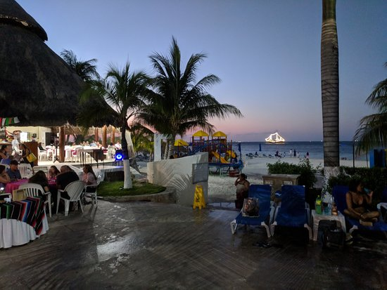 Casa Maya Cancun : Pirate ship is in the background