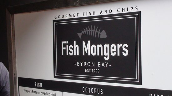 Fishmongers Byron Bay: Can't miss the logo