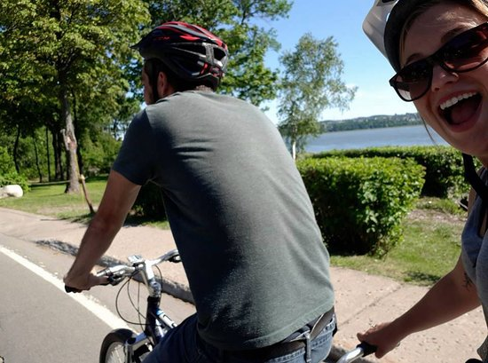 Saint-Laurent-de-l'Ile-d'Orleans, Canada: happiness is a tandem