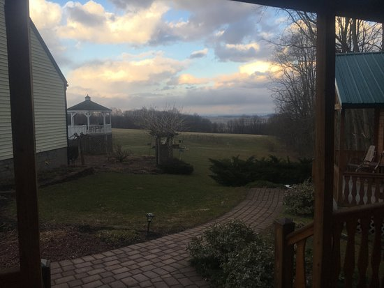 Penn Yan, NY: View from the porch of the Casa Verde