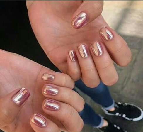 Rose Gold Chrome Gel Nails Picture Of The Loft Spa Cape Town Central Tripadvisor