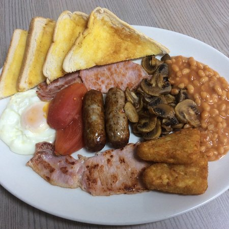 The Snack Box cafe: Mega breakfast, free tea, coffee or squash £5.75