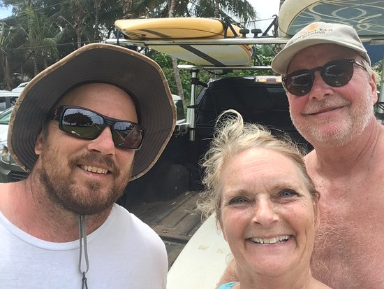 Kilauea, HI: Patrick and my husband and I after a wonderful time on the ocean.