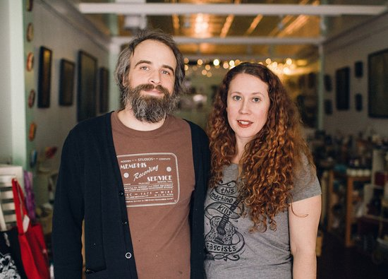 Tin Top Art and Handmade: Owners Neil and Kerry Stavely of Tin Top Art & Handmade