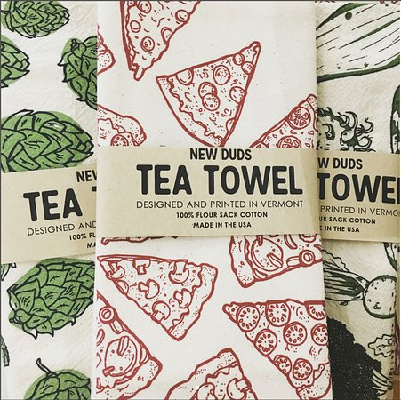 Tin Top Art and Handmade: Tea Towels by New Duds