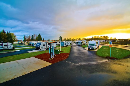 Junction City, OR: Street view of the Guaranty RV Park