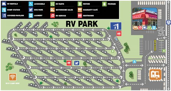 Junction City, OR: Map of the Guaranty RV Park