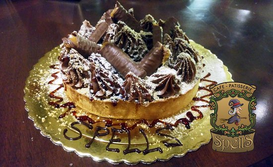 Surprising Grand Chocolate Twix Birthday Tart Picture Of Spells Cafe Funny Birthday Cards Online Inifofree Goldxyz