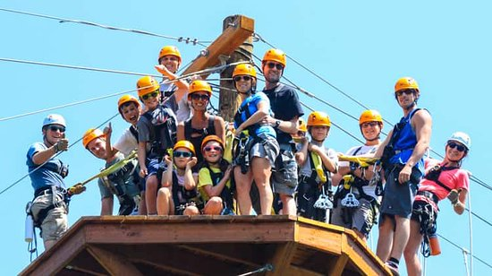 Gallatin Gateway, MT: Zipline adventure parks are fun for everyone! Families, solo travelers, groups, teams, and more!
