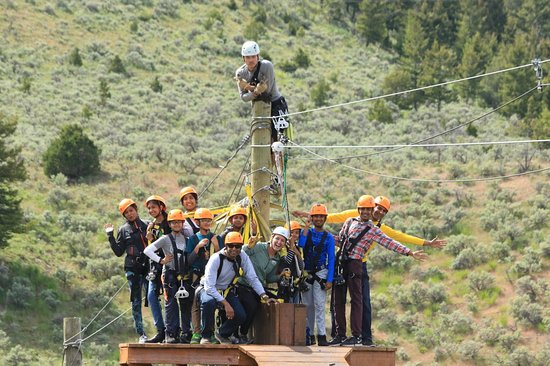 Gallatin Gateway, MT: Zipline adventure parks are fun for everyone!