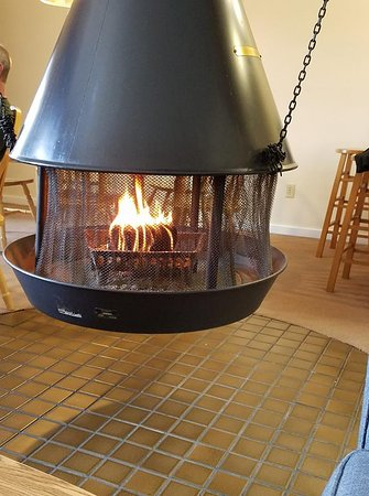 Cold Spring Resort: Hanging Fireplace