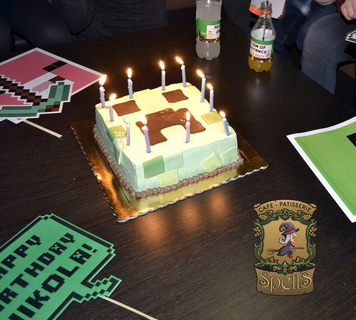 Superb Minecraft The Birthday Cakes At Spells Cafe Patisserie Picture Personalised Birthday Cards Sponlily Jamesorg