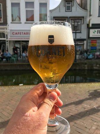 Maassluis, The Netherlands: Cornet Blonde beer from draft