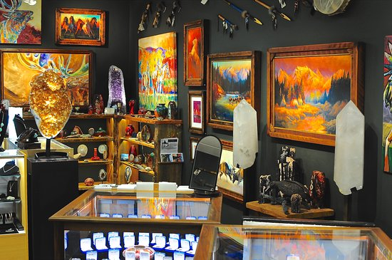 Bigfork, MT: Large crystals, minerals, art and jewelry at Electric Buffalo Gallery