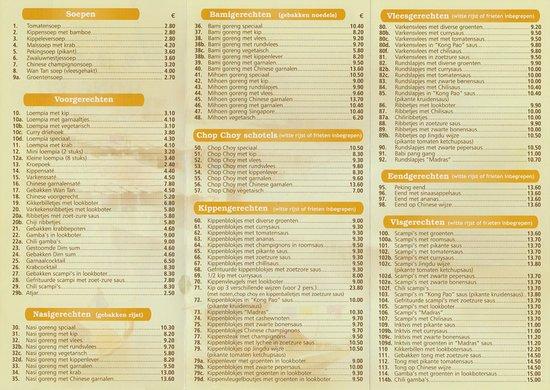 Kontich, Bélgica: menu