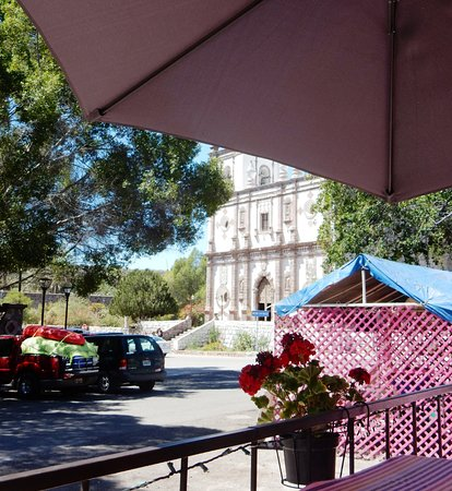 La Mision de San Ignacio: Directly across from square and outdoor cafes.