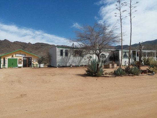 Home of Ann Costello with store in her garage at left, Chloride AZ