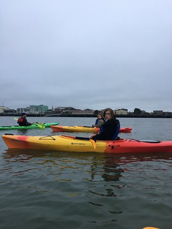 Eureka, CA: Future HSU student w/Brian in the green kayak