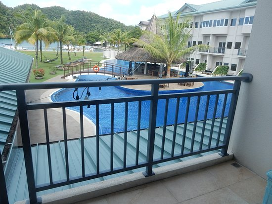 View of the Pool and Looking Toward the Dock and Ocean