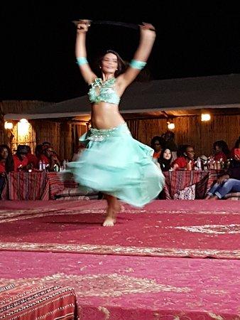 Belly dancing in the desert