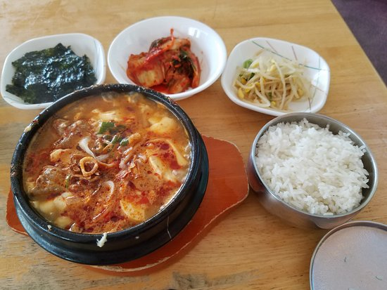 Rolling Hills Estates, CA: soon tofu soup with beef