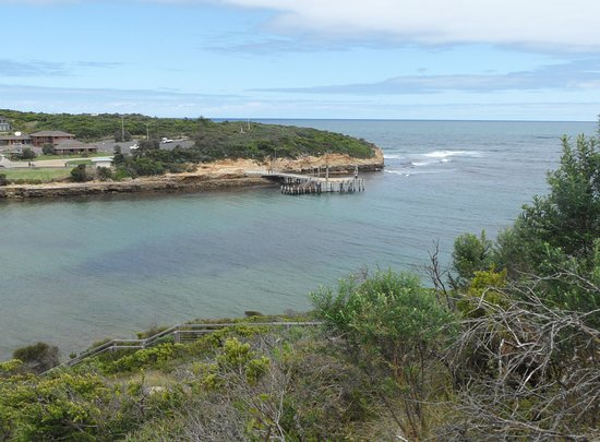 View of Pier from Scenic Lookout at Port Campbell