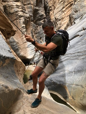 Wadi Bani Awf, โอมาน: My climb in to the dark.......