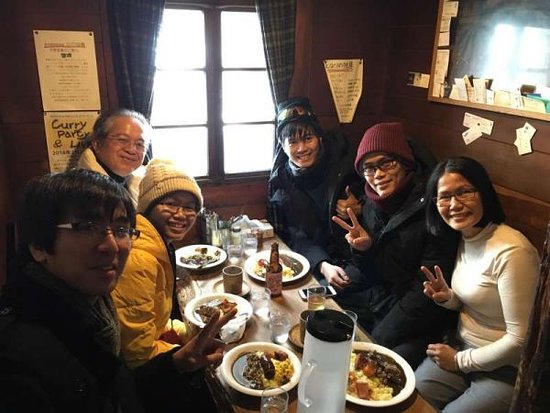 Ebetsu, Japonia: Nice curry lunch at Furano with my guests