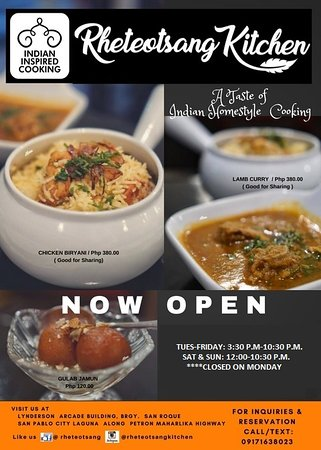 Now open to serve you with Authentic Indian Food