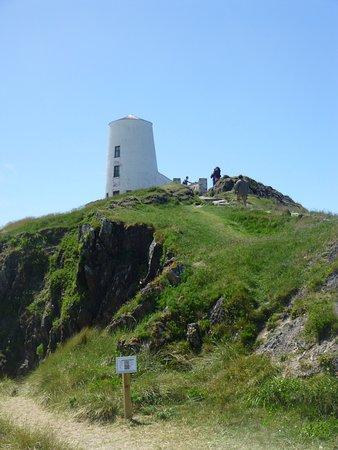 Newborough Warren & Ynys Llanddwyn: One of the lighthouses