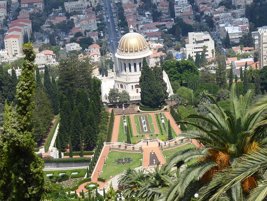 Dan Panorama Haifa: View of the Behai Temple from above close to the hotel