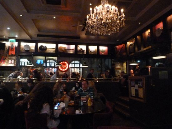 Hard Rock Cafe: The restaurant.