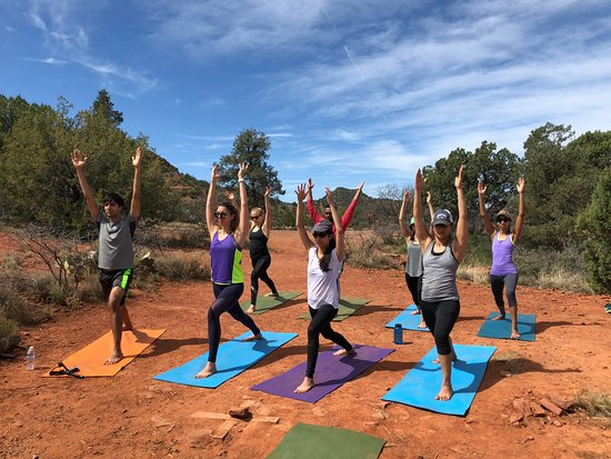 Yoga In The Red Rocks Picture Of Vortex Yoga Hiking In Sedona Tours Tripadvisor