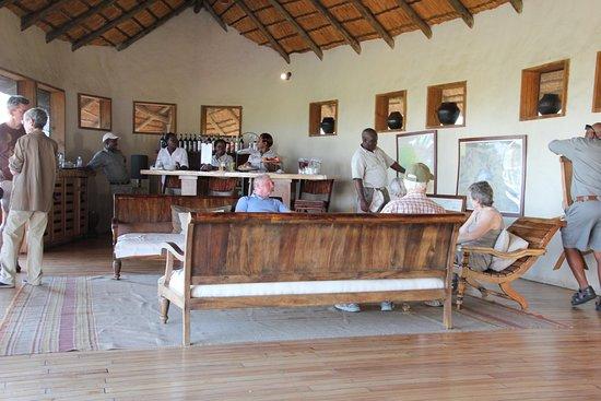 Central Kalahari Game Reserve, Botswana: Lounge area