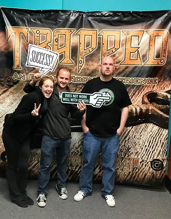 Trapped: 12 min and 33 seconds to spare! Woo!