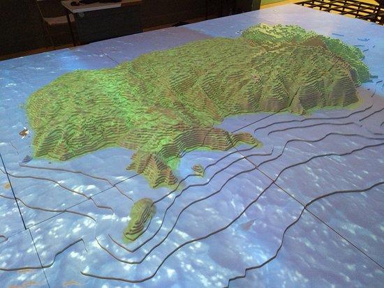 Museo Nacional De Costa Rica: Cocos Island, topographic model.