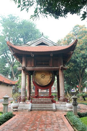 Temple of Literature & National University: Drum at Temple of Literature