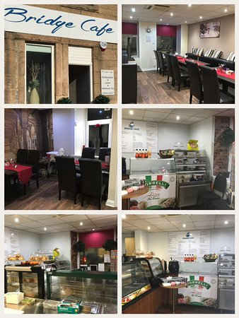 Bathgate, UK: Dining area and takeaway area