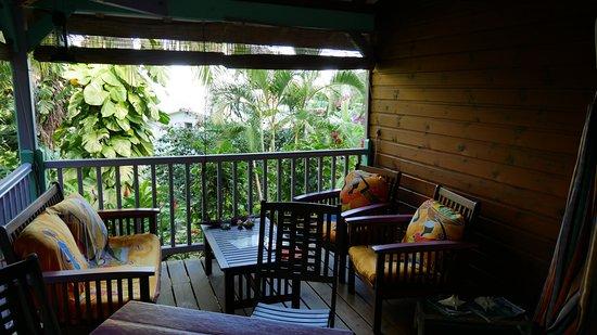 La Koumbala: Terrasse