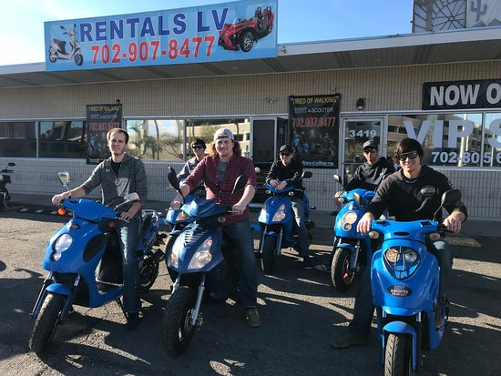 Customers At Scooter Rentals Lv Picture Of Scooter Rentals And