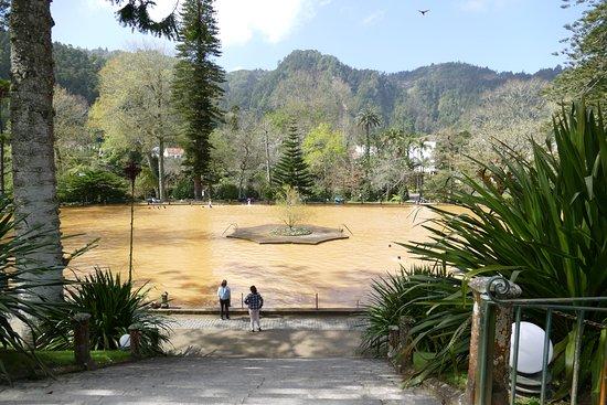 Volcanic lake is heaven