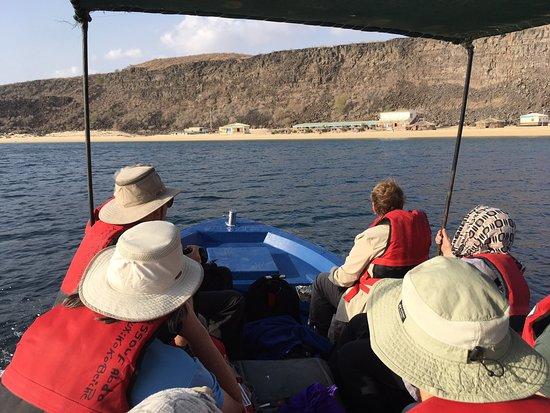Tadjoura, Djibouti: Arrival by boat!