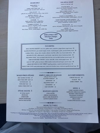 Boatyard Restaurant: Menu