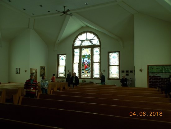 Marceline, MO: One of the stained glass windown