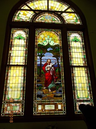 Marceline, MO: One of the stained glass windows